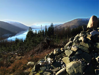 View of Loch Earn from the Cairn looking west
