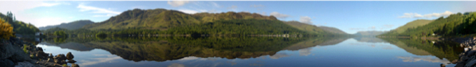 Panoramic View of Loch Earn