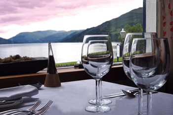 Dining Room with view of Loch Earn